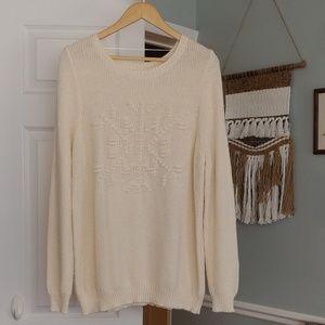 LC Lauren Conrad snowflake sweater